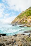 rocky coastline - stock photo