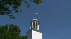 Historic church with cupola (1 of 2) - stock footage