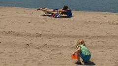 Beach happenings (8 of 9) Stock Footage