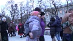 Ukraine, dancing, celebration of Christmas Stock Footage