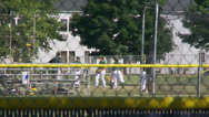 Stock Video Footage of Baseball team warming up (2 of 2)