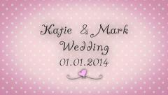 Cute Wedding Template Pink - stock after effects
