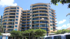 Apartment Blocks At Mooloolaba Stock Footage