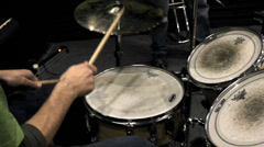 Drums light playing Stock Footage