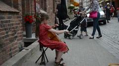 Nuori tyttö pelata sello Arkistovideo