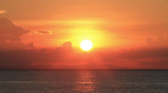 View of sunset with sea in Perhentian Islands, Malaysia Stock Footage