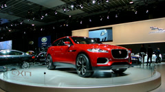 Jaguar C-X17 SUV Concept Car Stock Footage