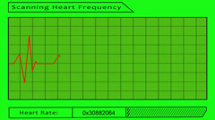 Scanning heart frequency - green screen Stock Footage