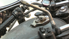 Close-up of motorcycle speedometer - stock footage