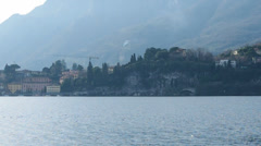 Panorama of Lecco village - Italy Stock Footage