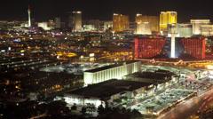Las-Vegas-Nightlife-Lights-City-Landscape-Time-Lapse Stock Footage