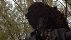 Tilt up of Creepy Scarecrow Stock Footage