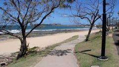 Footpath To Mooloolaba Beach Stock Footage