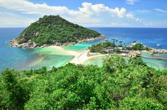koh tao a paradise island in thailand. - stock photo