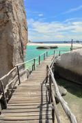 Koh tao boardwalk - a paradise island in thailand. Stock Photos