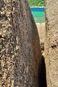 stone rock  koh tao - a paradise island in thailand. - stock photo