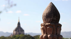 Focus movement from the spire to the Gawdawpalin temple Stock Footage
