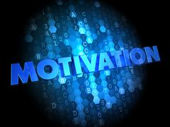 Motivation on Dark Digital Background. - stock illustration
