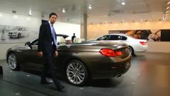 BMW 6 Series Convertible Stock Footage