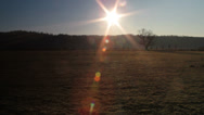 Stock Video Footage of Farm field near Sunset