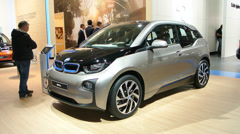 BMW i3 plug-in hybrid Stock Footage
