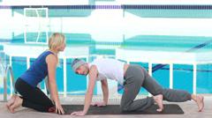 Couples Yoga Stock Footage