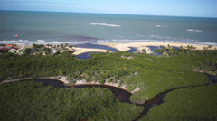 Trancoso sided Aerial 12 Stock Footage