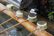 Stock Photo of shinto shrine purification basin
