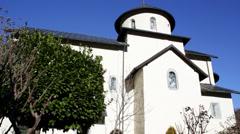Monastery Moraca, Montenegro, thirteenth century Stock Footage