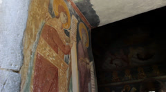 Monastery Moraca, fresco Stock Footage