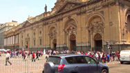 Stock Video Footage of 0809 Cathedral at Santiago, Chile