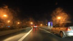 Driving home in the rain Stock Footage