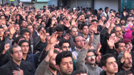 Stock Video Footage of Iran, muslim men are chanting, commemorating martyrdom Hossein, Shia Islam