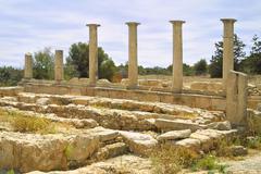 Sanctuary of Apollo Hylates, Kourion, Cyprus Stock Photos