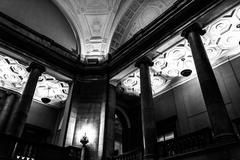 Architecture inside the free library, in philadelphia, pennsylvania. Stock Photos