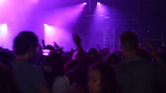 Insane crowd - Hands in the air - Facing stage - Lightshow - Lensflares - Fes - stock footage