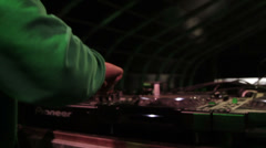 DJ - Close up of hands - Pioneer DJM Mixer Stock Footage