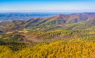Stock Photo of autumn color in the appalachian mountains, seen from skyline drive in shenand