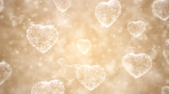 Valentine day background, flying hearts Stock Footage