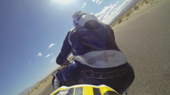 Motorcycle Super Bike gopro from behind - stock footage