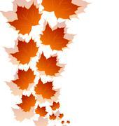 Stock Illustration of autumn maple leaves isolated on white background