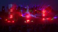 Lasershow @EDM Festival Scene 2 Stock Footage