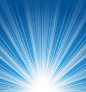 abstract blue background with sunbeam - stock illustration