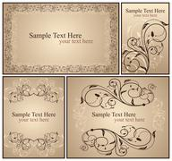 set a decorative vintage - stock illustration