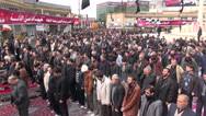 Stock Video Footage of Iran, public prayer session during Ashura commemoration, crowd on square