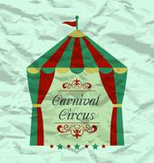 Vintage circus poster for your advertising Stock Illustration