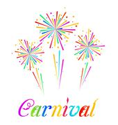 sketch abstract colorful exploding firework for carnival party - stock illustration