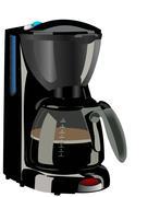Realistic illustration of coffee maker Stock Illustration