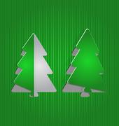 Christmas cutout paper tree, minimal background Stock Illustration