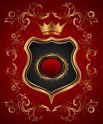 Elegant gold heraldry frame Stock Illustration